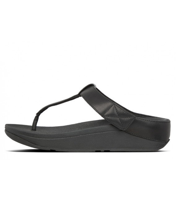 3e8d7203360ba Fitflop Women The Skinny Toe-Thong Sandals-Leather Silver Toe