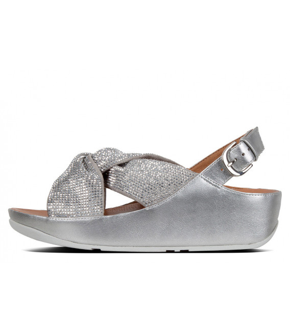 e4b5ceef329 Fitflop Women Fino Crystal Toe-Thong Sandals Pewter Toe